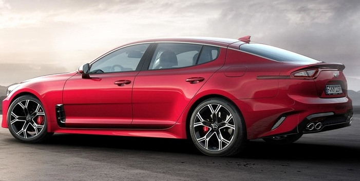 red kia stinger 2018