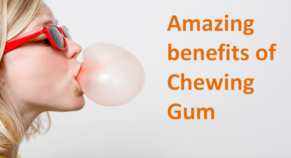 girl chewing gum benefit