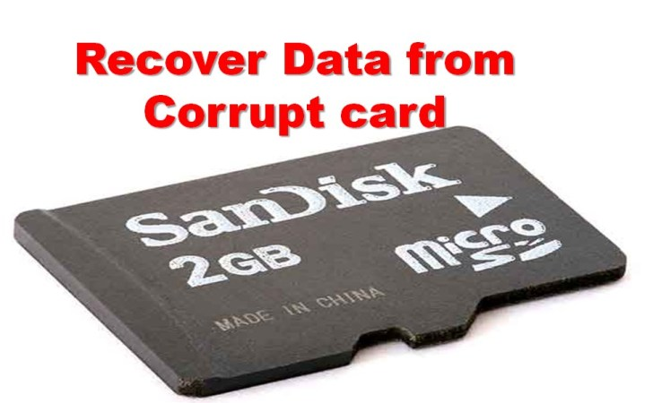 How to retrieve pictures from corrupted sd card