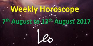 leo weekly horoscope 7th to 13th august 2017