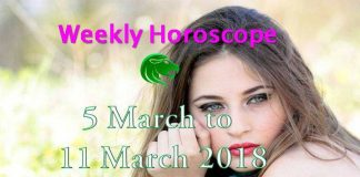 leo weekly horoscope 5th to 11th march 2018