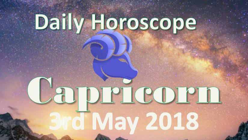 capricorn daily horoscope thursday 3rd may 2018
