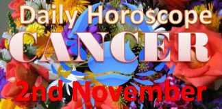 cancer daily horoscope today friday 2nd november 2018