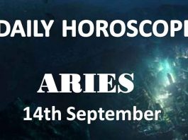 aries daily horoscope today 14th september 2019