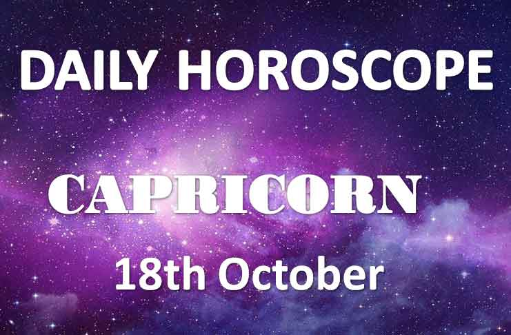 capricorn daily horoscope 18th october 2019