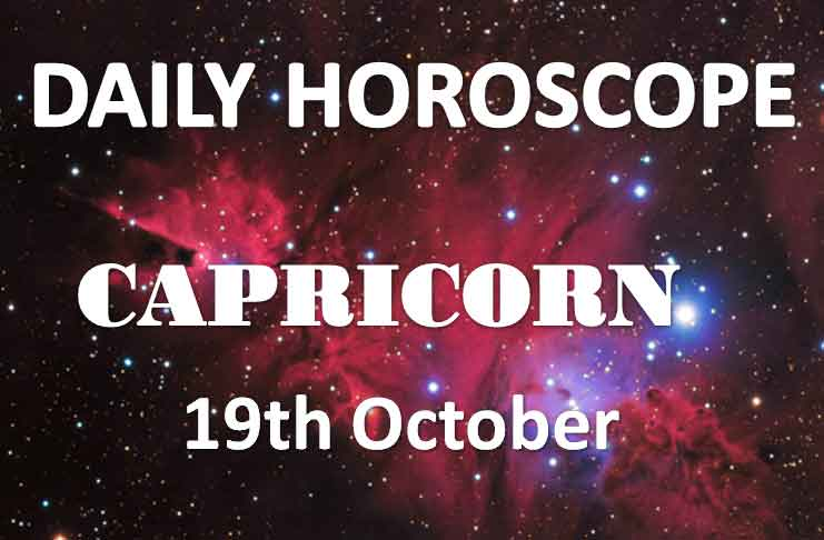 capricorn daily horoscope 19th october 2019