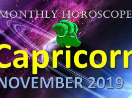 capricorn horoscope for the month of November 2019