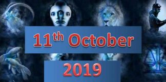 daily horoscope 11th october 2019