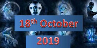 daily horoscope for today october 18, 2019