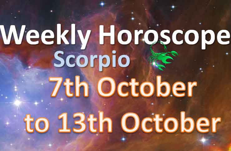 scorpio weekly horoscope 7th to 13th october 2019
