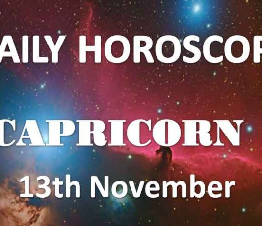 capricorn daily horoscope 13th november 2019