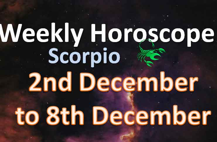 Scorpio Weekly Horoscope for December 2nd to 8th, 2019