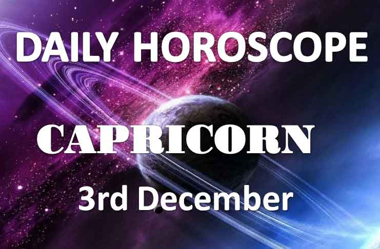 Capricorn Daily Horoscope Today Tuesday 3rd December 2019