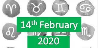 daily horoscope today 14th february 2020