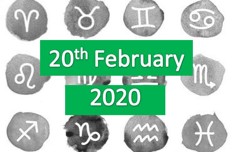 daily horoscope today 20th february 2020
