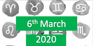 daily horoscope today 6th march 2020
