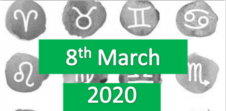 daily horoscope today 8th march 2020