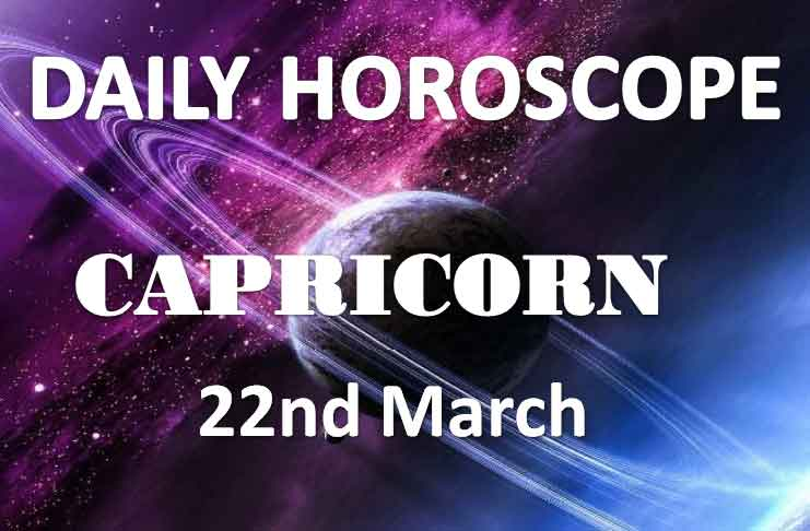 capricorn daily horoscope 22nd march 2020