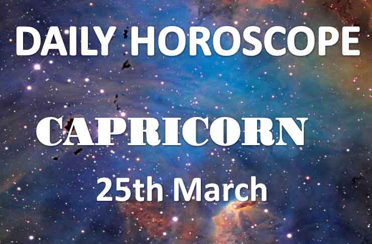 capricorn daily horoscope 25th march 2020