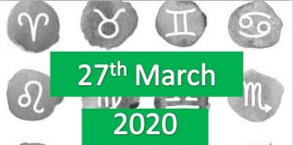 daily horoscope today 27th march 2020