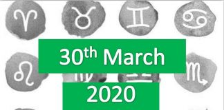daily horoscope today 30th march 2020