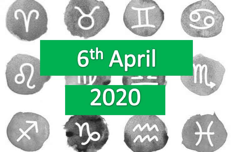 daily horoscope today monday 6th april 2020