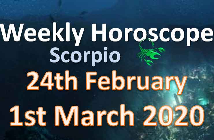 scorpio weekly horoscope this week 30th march to 5th april 2020