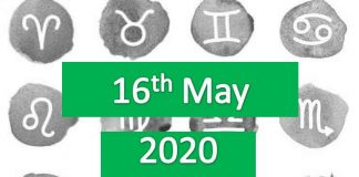 daily horoscope today 16th may 2020