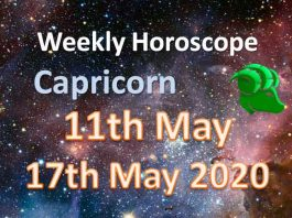 capricorn weekly horoscope 11th to 17th may 2020