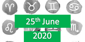 daily horoscope today 25th june 2020