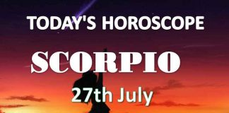 scorpio daily horoscope 27th july 2020
