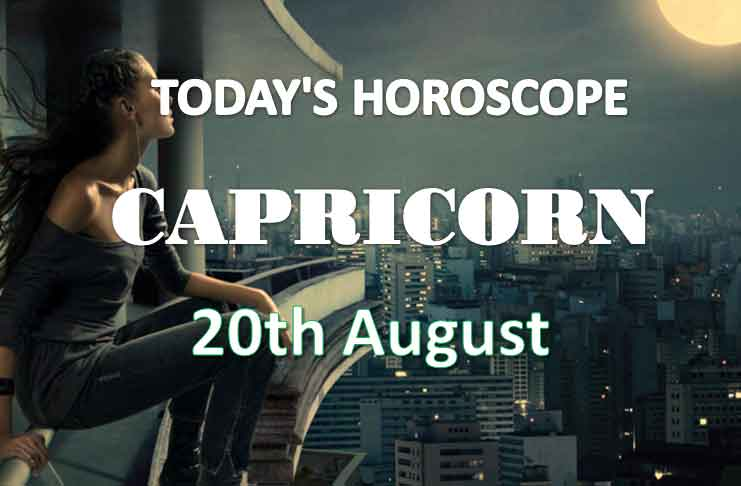 capricorn daily horoscope 20th august 2020