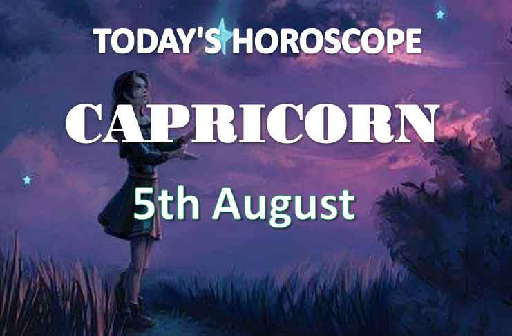 capricorn daily horoscope 5th august 2020