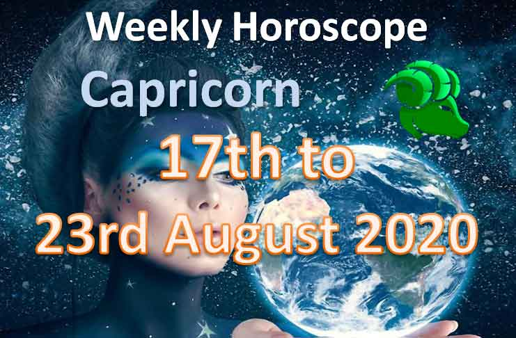 capricorn weekly horoscope 17th to 23rd august 2020