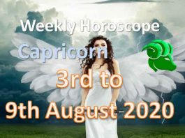 capricorn weekly horoscope 3rd to 9th august 2020