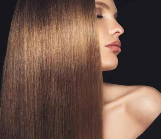 how to keep hairs straight and shiny