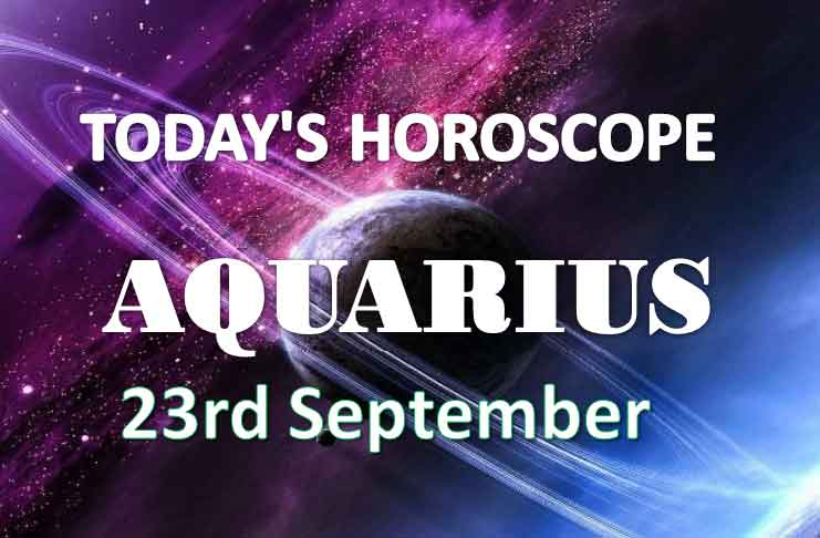 aquarius daily horoscope 23rd september 2020