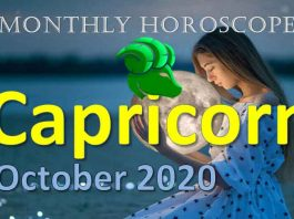 capricorn monthly horoscope of october 2020