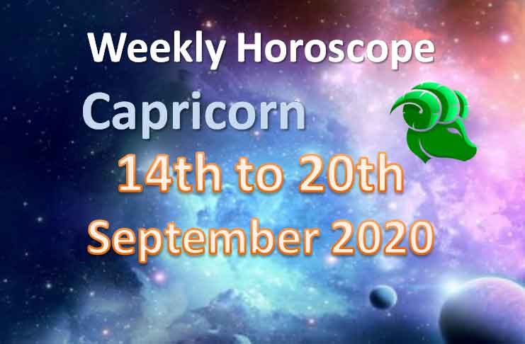 capricorn weekly horoscope 14th to 20th september 2020