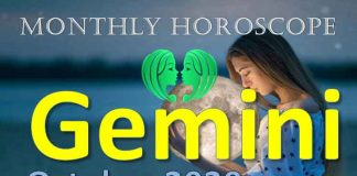 gemini monthly horoscope of october 2020