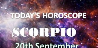 scorpio daily horoscope 20th september 2020