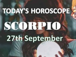 scorpio daily horoscope 27th september 2020