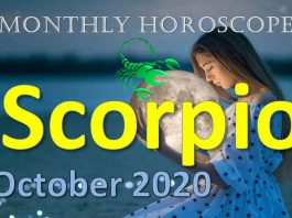 scorpio monthly horoscope of october 2020