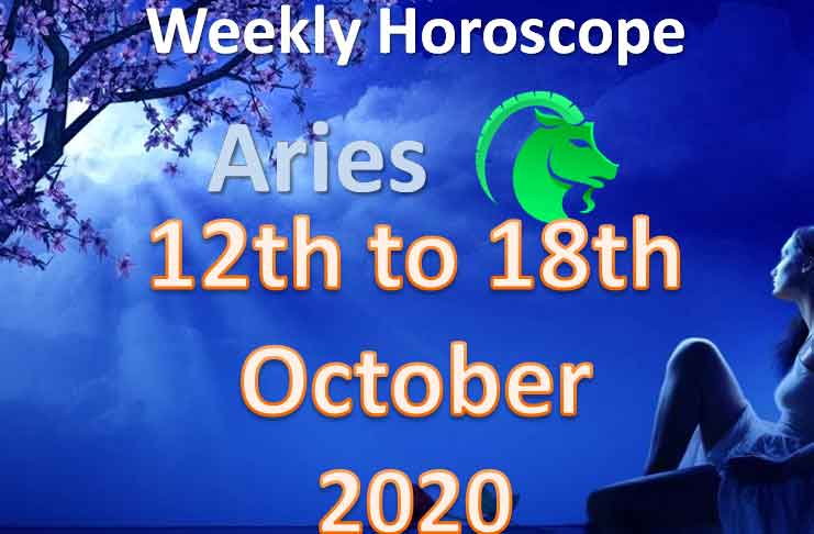 aries weekly horoscope 12th to 18th october 2020
