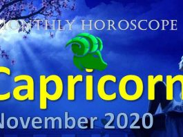 capricorn monthly horoscope november 2020