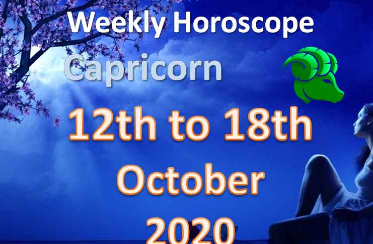 capricorn weekly horoscope 12th to 18th october 2020