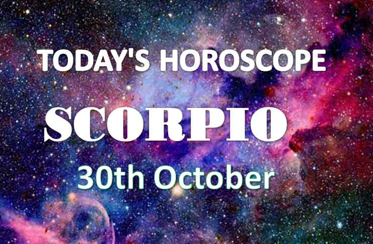 scorpio daily horoscope 30th october 2020