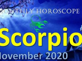 scorpio monthly horoscope november 2020