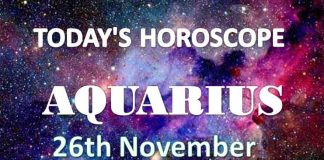 aquarius daily horoscope 26th november 2020