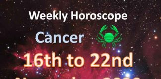 cancer weekly horoscope 16th to 22nd november 2020
